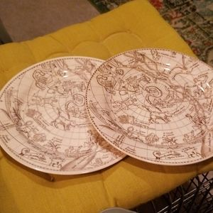 Melamine astrology plates 10 inch wide
